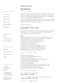 Receptionist Resume Templates – Kappalab