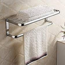 Hiendure®<b>Brass</b> Wall-mounted <b>Towel Rack</b> Hanger <b>Holder</b> ...