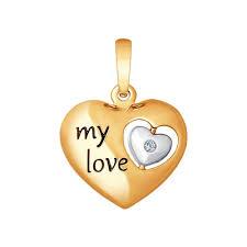 <b>Подвеска</b> из золота с бриллиантом «<b>My love</b>» <b>SOKOLOV</b> – купить ...