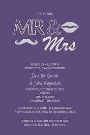 Couple Wedding Shower Invitations Couples Wedding Shower Invitation Any Colors Mustache And