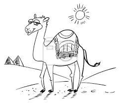 Cammello Nel Deserto Personaggio Dei Cartoni Animati Divertente