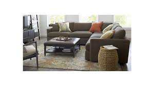 crate and barrel living room ideas. Round White Contemporary Wooden Tables Crate And Barrel Sectional Sofas As Well Lounge Ii 3 Living Room Ideas A