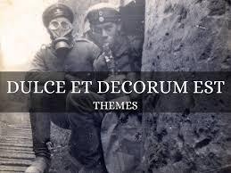 keywords et decorum est and tags theme of dulce et decorum est by gabby woodman