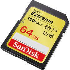 Thẻ nhớ SD 64GB SanDisk Extreme 1000x V30 150/60 MBs (Phiên bản mới nhất) -  Tuanphong.vn