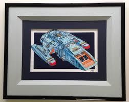 modern art framing. Star Trek Shuttle Art With A Floating Mat And Deep Bevel Inset Modern Framing