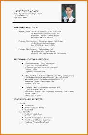 Resume Vitae Sample Employment Curriculum Vitae Sample Resume