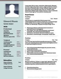 2 Column Resume Template Word Resume Simple Templates