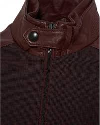leather brick red jacket for men lyst view fullscreen