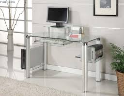 modern full glass desk. Fabulous Home Office Decoration Design With Ikea Glass Desks Interior Ideas : Modern Full Desk K