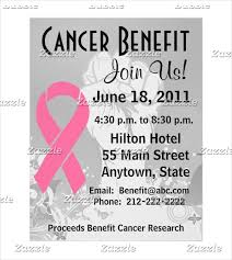 Benefit Flyer Wording Free Cancer Benefit Flyer Template Cancer Fundraiser Flyer