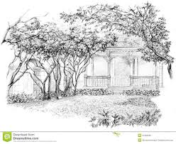 Small Picture Pencil Perspective Drawing Of Garden Stock Photos Image 27492233
