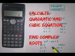cubic equation using calculator