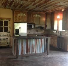 Ceiling For Kitchen Rustic Kitchen With Old Door For Pantry Door Custom Made Island