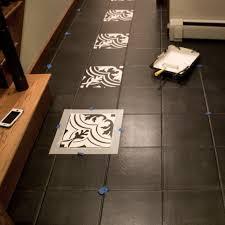 painted cement tile floors