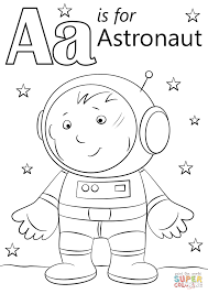 Boy Astronaut On The Moon Coloring