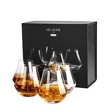 amazon clear crystal whiskey tasting snifter tumbler gles gift box set of 4 snifters