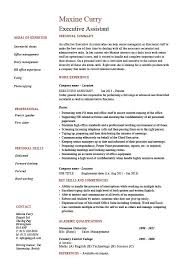 executive assistant resume  example  sample  job description    buy this resume