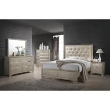 transitional bedroom furniture. Simple Furniture Beaumont Transitional Champagne 4piece Bedroom Set And Furniture