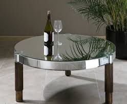 amazing round mirrored coffee table
