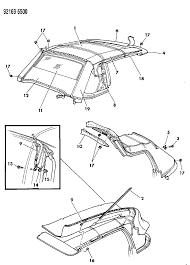 1992 chrysler lebaron gtc convertible top diagram 00000a4h