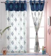Curtains for picture window Floral Paisley Design Blue Color Premium Cotton Eyelet Curtain Window Curtain Pepperfry Curtain Online Buy Window Curtains In India At Best Prices Pepperfry
