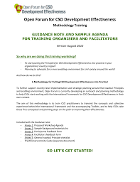 Sample Of Agenda Guidance Note And Sample Agenda