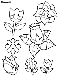 Small Flower Coloring Pages Brilliant Preschool With Flowers And