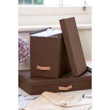 hanging file box. Canvas File Box With 8 Hanging Files | Bigso