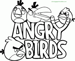 Small Picture Angry Birds Coloring Pages Coloring Pages