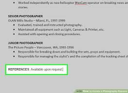 photographers resume how to create a photography resume with pictures wikihow