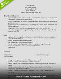 Work Resume Work Resume How To Write A Perfect Social Worker Resume