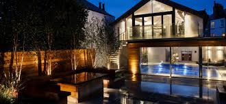 lighting a house. Lighting A Private Garden And Spa House