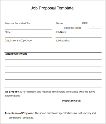 Job Proposal Form Free Job Proposal Forms Magdalene Project Org