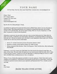 Bank Teller Cover Letter Sample | Resume Genius Regarding Banker ...