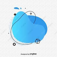 Png Label Design Gradual Blue Memphis Fluid Label Banner Design Memphis