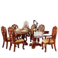 dining sets wooden designer handmade dining set by aarsun manufacturer from saharanpur