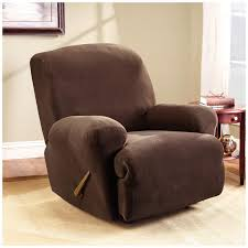 sure fit recliner covers for easy stretch and ultimate suede like comfort
