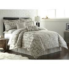 austin horn bedding en vogue maze platinum grey 4 piece comforter set ashley