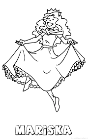 Mariska Prinses Naam Kleurplaat