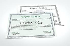 Certificate Template Photoshop Certificate Templates Free Format Download Sample Of School
