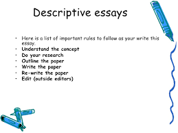 lecture descriptive essay