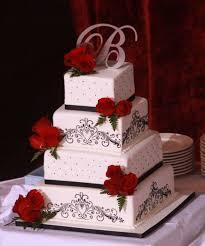 Wedding Cakes Elegant Wedding Cakes Red Roses