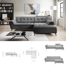 bmf magic modern corner sofa bed