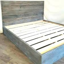 Distressed Wood Bed Frame The Grey Weathered Reclaimed Queen White ...