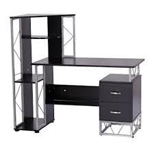 office workstation desks. wonderful desks homcom 52u201d multi level tower office workstation computer desk u2013 black intended desks 6