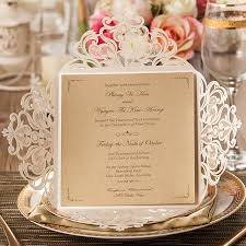 online buy wholesale invite events from china invite events Elegance Wedding Cards Sri Lanka 50pcs wishmade laser cut lace flower elegant wedding invitations paper card for party supplies birthday casamento Sri Lankan Wedding Sarees