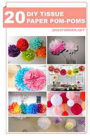 How To Make Fluffy Decoration Balls Inspiration 32 DIY Tissue Paper PomPoms