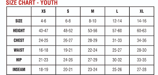 Youth Size Chart American Apparel Youth Tee Size Chart Rldm
