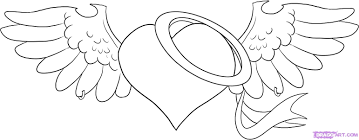 Small Picture Coloring Hearts With WingsHeartsPrintable Coloring Pages Free