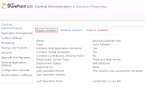Installation Of Org Chart For Sharepoint 2010 As Wsp Package
